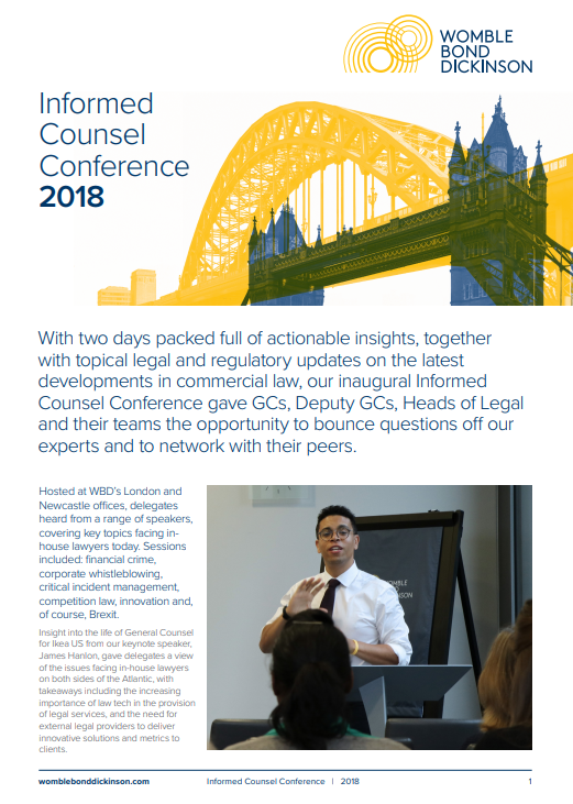 Informed Counsel Conference 2018