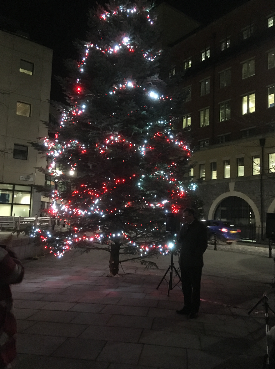 Temple Quay Christmas Tree