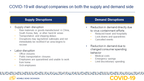 COVID-19 supply disruptions and demand disruptions