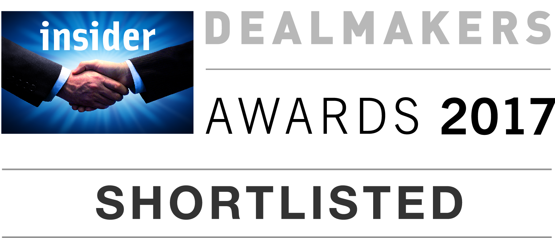 Insider dealmakers awards 2017 - shortlisted